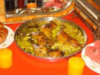 Cuisse de poulet aux oeufs