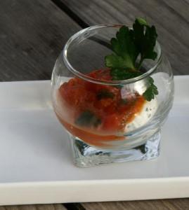 Verrine de tomate à la ricotta