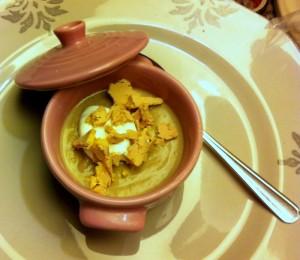 Crème de châtaignes et copeaux de Foie gras